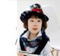 新款骷髅头海盗船礼帽 儿童爵士帽 礼帽