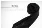 2010型男必备 个性时尚 黑白细条纹窄款 休闲领带
