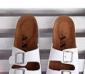 批发供应男装 经典时尚 双排扣 懒人拖鞋 舒适软木底 拖鞋 TX01