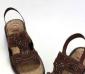 批发供应外贸原单地球牌牛反绒沙滩鞋真皮咖色女士凉拖鞋一件起批